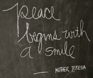 peace begins with a smile – simple sojourns