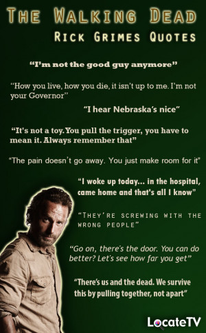 The Walking Dead - Rick Grimes Quotes