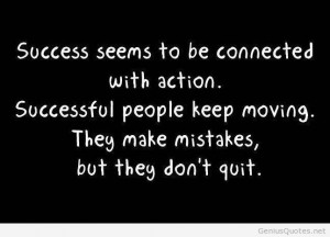 Make mistakes for success quotes