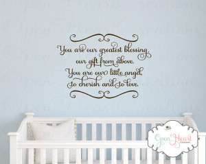 Wall Decal - You Are Our Greatest Blessing A Gift From Above - Twin ...