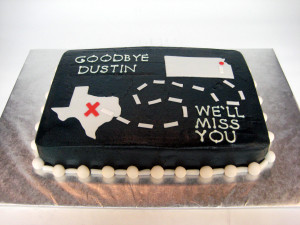 From Kansas to Texas Going Away Cake