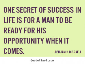 quote about success by benjamin dizzy disraeli design your own quote
