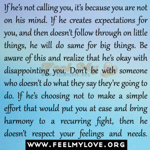 if he s not calling you it s because you are not on his mind if he ...