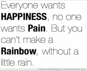 cute, happiness is pain, inspirational, love, pretty, quote, quotes