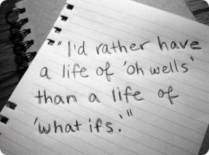 Good motto.