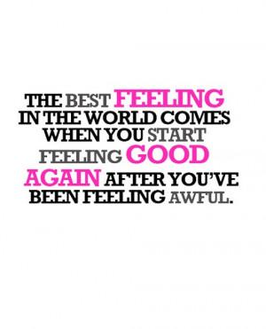 Best Feeling The World...