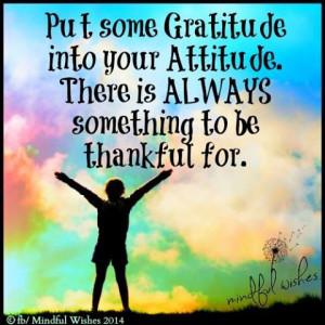 Put Some Gratitude into Your Attitude