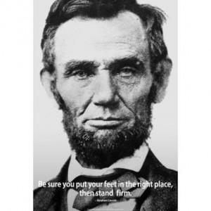 Abraham Lincoln Stand Firm Quote History Poster Prints at AllPosters ...