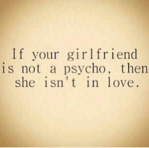Girlfriend psycho