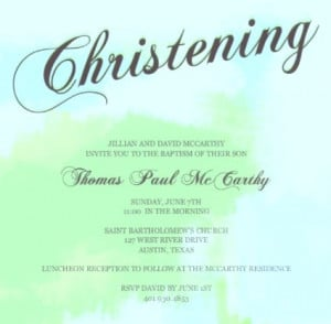 Christening Invite Wording, Quotes, and Poems