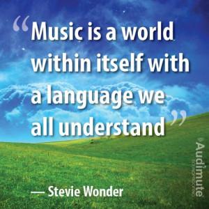 Stevie Wonder said it best #musicquotes