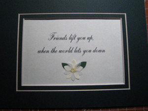 Framed quote about friends - 7x9 -