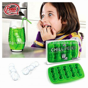 creative cool worm silicone funny ice cube trays,ice cube moulds
