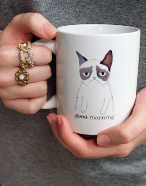 doppelt so schlimm wie sonst. Diese Grumpy Cat good morning ...