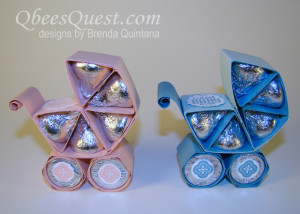 Hershey's Kisses Baby Carriage Craft