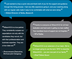 Quotes from WilsonHCG clients
