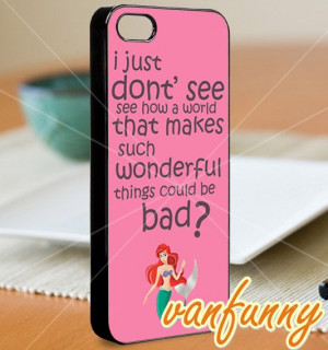 Ariel the little mermaid quotes iPhone by VanFunnyArtGalery, $15.00