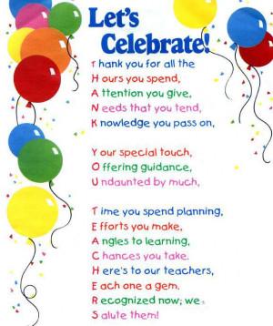 ... Week 2015: Anyone have ideas for Teacher Appreciation Week