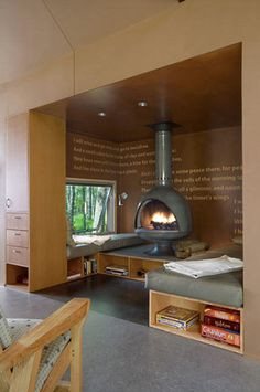 modern inglenook by Max Levy Architect More