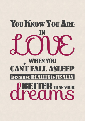 You Know Youre In Love - Love Quotes Poster