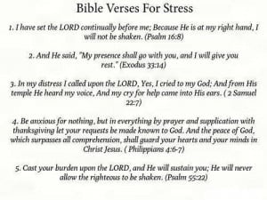 Bible Verses for Stress