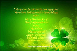St Patrick Day Quote, Inspirational Quote, Blessings of St Patrick