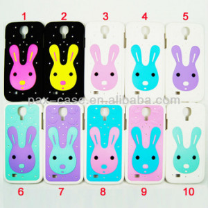 ... Rabbits Diamond Bling Bling Plastic Case for Samsung Galaxy