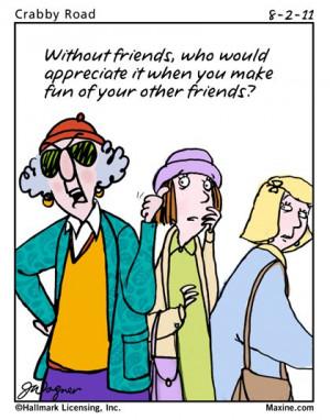 Maxine Cartoon on Friends