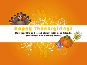 Happy Thanksgiving Quotes to good friends and lovely family 2014