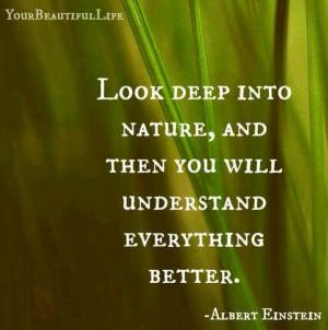 Nature quote via www.YourBeautifulLife.org