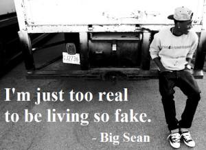 Big Sean #big sean lyrics #lyrics #too fake
