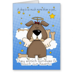 Sympathy Quotes For Loss Of Dog Death of a dog sympathy card