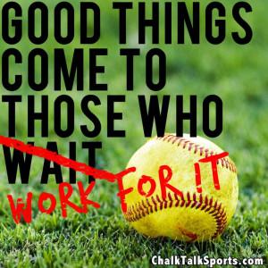 Softball players - Play Hard. Work Hard