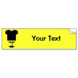 French Chef - Mustache Humor Car Bumper Sticker