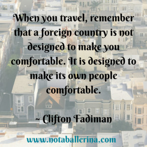 Clifton Fadiman on feeling comfortable abroad