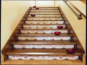 What Are Stair Risers With Quotes