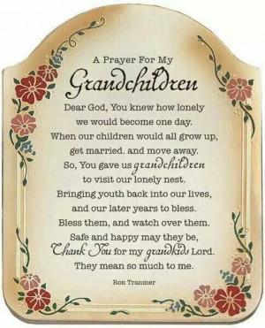 Grandchildren are a blessing