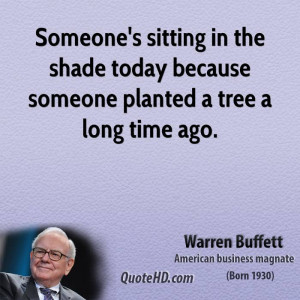 warren buffet quote about shade
