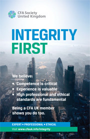 CFA UK launches the ?Integrity First? advertising campaign