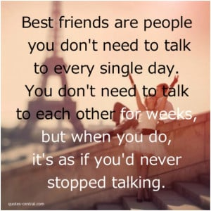 True friendship is not being inseparable…
