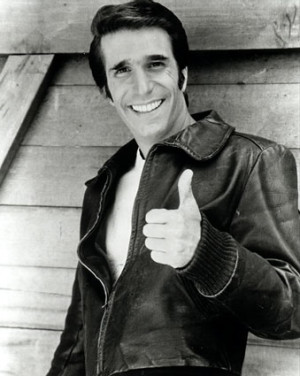 fonzie henry winkler happy days Come on Yolanda whats Fonzie like?