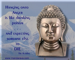Famous Buddha Quote - Anger is like drinking poison