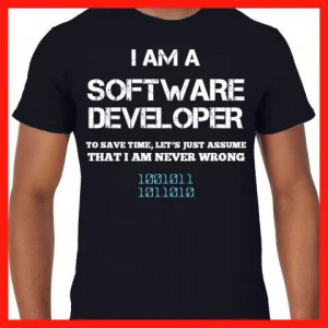 am a #software #developer to save #time let's just #assume that I am ...