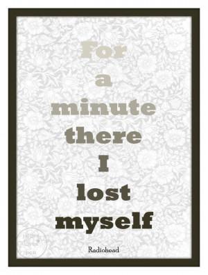 Radiohead lyric Art Quote 8X10 Typography by paperlovespen on Etsy, $ ...
