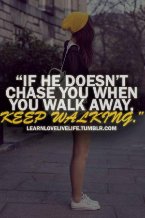 Know when to walk away