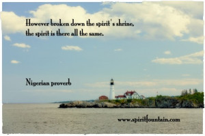 However Broken Down the Spirit's Shrine,the spirit is there all the ...