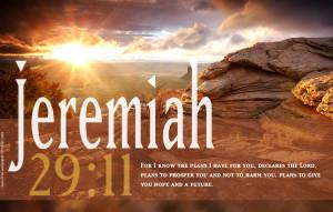 Bible Verses Jeremiah 29:11 Sunset Landscape HD Wallpaper