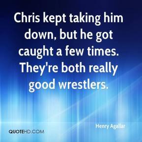 Henry Agallar - Chris kept taking him down, but he got caught a few ...