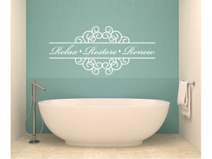 Bathroom Wall Decals Quotes: Relax Bathroom Quote Vinyl Wall Decal #2 ...