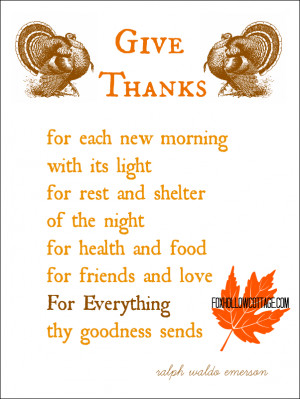 thanks giving poems